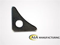 "A&A Manufacturing Standard 1/8"" Steel Gusset, 1 7/8"" Long, 1/2"" Hole"