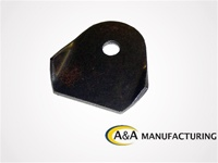 "A&A Manufacturing Body Tab .085 Steel, 1/4"" Hole"
