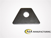 "A&A Manufacturing Seat Tab 3/16"" Steel, 1/2"" Hole"