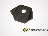 "A&A Manufacturing Trick Tab 1/8"" Steel, 1/4"" Hole"