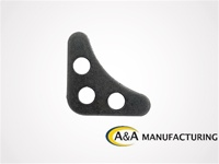 "A&A Manufacturing 3 Hole Gusset, 1/8"" Steel"