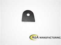 "A&A Manufacturing Light Bracket 1/8"" Steel, 1/2"" Hole"