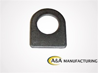 "A&A Manufacturing Brake Line Tab 5/8"" Hole, .100 Steel"