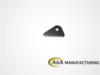 "Wing Tab 3/16"" Steel, 1/4"" Hole"