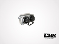 "CBR Large Mini Oil Cooler with Two 5.2"" Fans"
