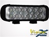 "8"" LED Light Bar Black Twelve 3-Watt LED's Euro Beam"